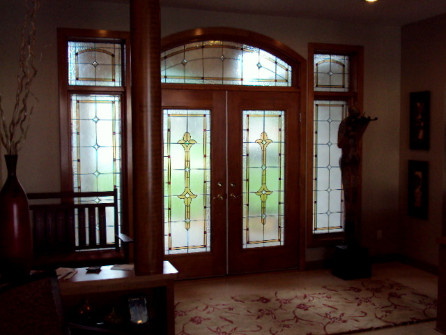 Custom Leaded Glass Foyer.