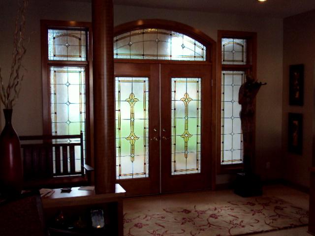Custom Leaded Glass Foyer.