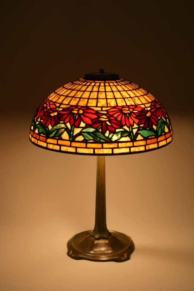 Poinsettia Lamp, Tiffany Reproduction